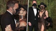 El beso enmascarado y más imágenes de Jennifer López con Ben Affleck en la Met Gala 2021