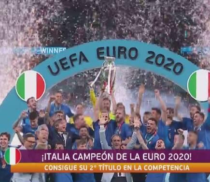 ¡Gritan con el alma! Italia festeja con todo su título en Wembley