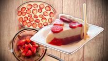 Sorprende a tus invitados con una deliciosa torta helada de fresa