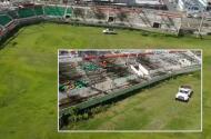 DRONE 580: Destrozado y abandonado estadio Félix 'Nacho' Millán de Yabucoa a 4 años de María