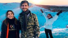 Paulina Goto viajó con su novio a Islandia, un lugar que siente como la casa de Santa Claus