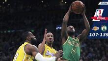 Al fin Kemba Walker vence a LeBron James y Boston derrota a Lakers