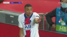 Neymar le reclama a Mbappé, cerca el tercer gol del PSG
