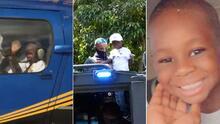 Su madre muere en un incendio, pero él sobrevive y recibe un regalo de la policía de Miami