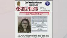 Buscan a una mujer con problemas mentales y otras enfermedades que desapareció en Miami