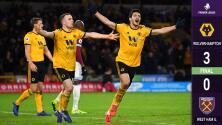 Con doblete de Raúl Jiménez, Wolverhampton vence al West Ham