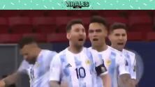La euforia de Lionel Messi en los penales ante Colombia