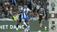 Espectacular voltereta del Vitoria Guimares sobre el Porto; Corona salió lesionado