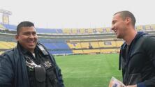El divertido reencuentro de Dueñas con el policía al que empujó al celebrar en la final