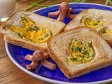 Huevo en canasta de pan para niños ¡ricos y divertidos!