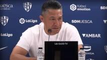 Ignacio Ambriz no se espanta con el momento del Huesca