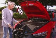 La nueva era en los autos eléctricos: Gabaldoni impresionó a Johnny Lozada con un Audi RS E-Tron GT