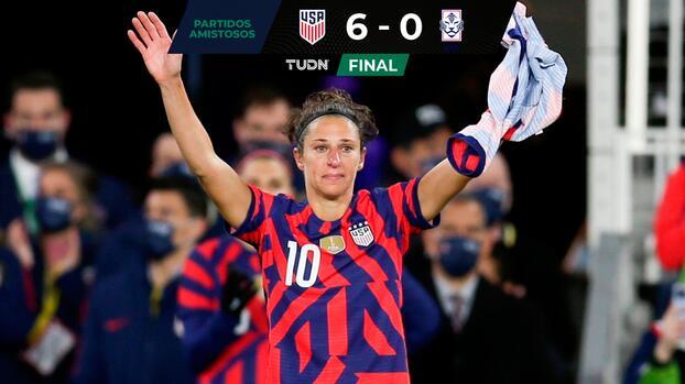 ¡Emotivo adiós! Carli Lloyd se retira del Team USA en goleada sobre Corea