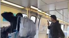 Captado en video el momento en que una salvadoreña embarazada es golpeada en el metro de Washington