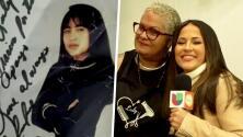 Jackie Guerrido se emocionó al visitar a la mujer a quien le dio su primer autógrafo sin ser famosa
