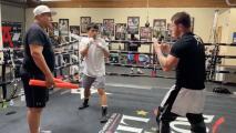 Hijo de Pacquiao entrena con Eddy Reynoso y 'Canelo' Álvarez