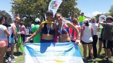 Atleta hispana de Houston compite en una carrera de manera virtual