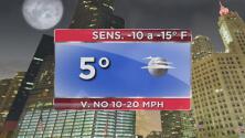 Mucho frío y fuertes vientos para las próximas horas en Chicago