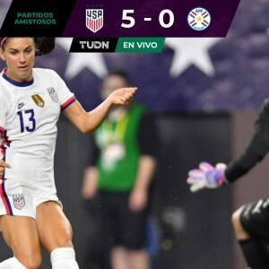 Al descanso, Estados Unidos golea a Paraguay