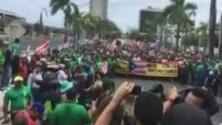 Multitudinaria marcha en conmemoración al Día del Trabajo en Puerto Rico