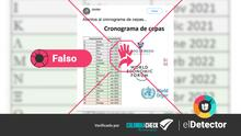 """¿Existe un """"cronograma de cepas"""" del nuevo coronavirus, como dice un mensaje que circula en redes sociales?"""