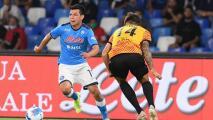 'Chucky' Lozano y Napoli fueron goleados por equipo de la Serie B