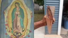 """""""Es un milagro"""": hispano talla una madera antigua y ve la figura de la Virgen"""