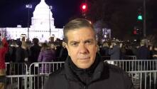Así fue la llegada de Donald Trump al Capitolio Federal para rendir tributo a George H.W. Bush