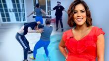 """Francisca admite que va """"bajando como tortuga"""" las libras del embarazo"""