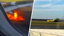 Avión se incendia tras chocar con un pájaro en aeropuerto de Nueva Jersey