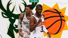 Así se jugarán las NBA Finals entre Bucks y Suns