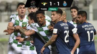 Porto rescata un empate agónico sin Tecatito que salió de cambio