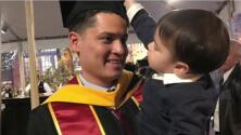 El padre de familia hispano que se gradúa con maestría de la UCLA quiere inspirar a los demás a que cumplan sus sueños