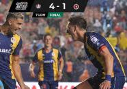 Resumen | Noche soñada de Berterame, hat-trick perfecto y 4-1 ante Xolos