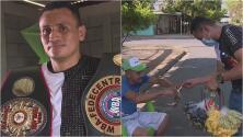 Campeón nicaragüense de boxeo lucha contra la pobreza: vende frutas en la calle y trabaja en una ferretería