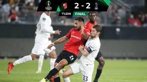 Tottenham apenas salvó un empate en su visita al Rennes