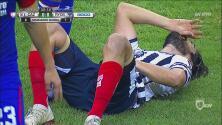 Alarmas en Monterrey; Pizarro se fue lesionado