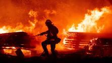 Hallan muerto a un bombero que luchaba contra el incendio El Dorado en California