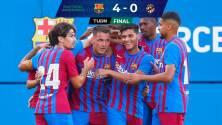 Barcelona, con un albanés como figura, goleó al Nàstic en amistoso
