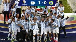 ¡Lo logró! Messi y Argentina, campeones de Copa América 2021