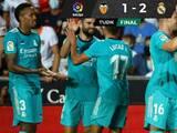 Con dos goles sobre el final, Real Madrid remontó y superó al Valencia