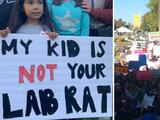 Protestan en el Capitolio estatal contra la obligación a estudiantes de tener la vacuna contra el coronavirus