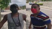 En video: joven que reclama la libertad de Cuba se enfrenta a un agente armado del régimen castrista