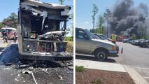 Se incendia 'foodtruck' de tacos en Raleigh y familia hispana lo pierde todo