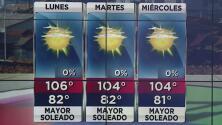 Condiciones calurosas y mayormente soleadas en Arizona