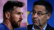 Bartomeu criticó al Barcelona por la salida de Messi
