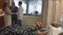 Se casó en un hospital y frente a su abuela para que la anciana pudiera asistir a la boda antes de morir