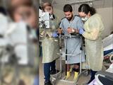 """""""Los doctores no lo creen"""": trabajador hispano recupera poco a poco su movilidad tras accidente laboral en Durham"""