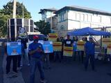 Trabajadores de la AEE en protestan por contrato a consorcio LUMA
