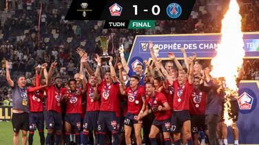 Otro revés de PSG ante Lille que levanta el Trofeo de Campeones